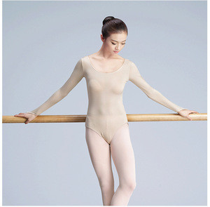 DOUBL brand adult latin Ballet WarmNude Skin colour Underwear Dance Leotard Nude Leotard top training dancewear long sleeve