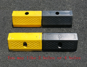 Euro Standard 500*160*100mm Rubber Car Parking Stopper Wheel Stopper Used in Parlking Lots Community Home Garage