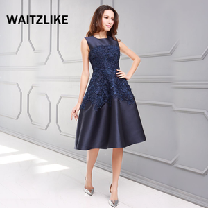Factory manufactures sleeveless short embroidered homecoming dresses