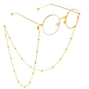 Fashion New Simple Design Eyewear Accessories Copper Beads Glasses Holder Slip Chain