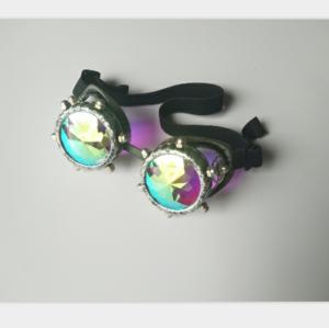 Festivals Kaleidoscope Gloth Vintage Rainbow Prism Sunglasses Steampunk Goggles Adjustable Bands