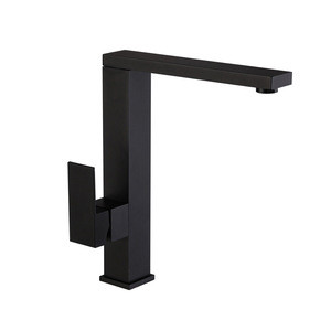 Flexible Spout Hot and Cold Black Finished Brass Kitchen Faucet
