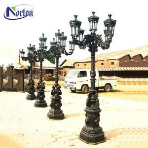 Garden street decorative lamps lights cast iron lamp outdoor/indoor antique cast iron light poles for sale