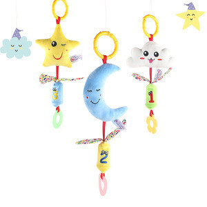 Hot sale funny baby bed ring toys sound baby plush toys