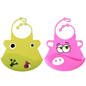 Hot Selling Adjustable Cartoon Custom Printing Eco Friendly Silicone Baby Bib