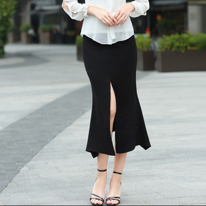 Maxnegio 2018 Ladies Elegant Maxi Long Skirt Women Open Leg Sexy Long Skirt guangzhou