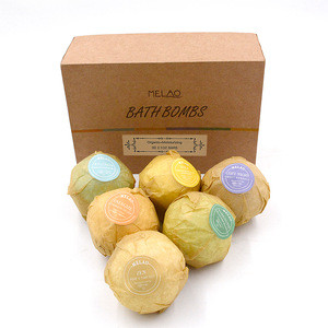 Melao Skin Care Bath Salts Ball SPA Surprise Fragrance Natual Organic Bubble Bath Bombs Gift Set