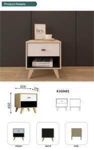 New arrival cheap nightstand modern design nightstand sidetable