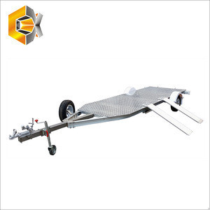 New design Aluminium Motorcycle Trailer with Torsion Axle