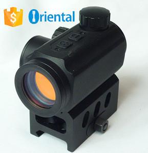 New Gun Scope,Micro 1x25mm Reflex Red Dot Sight, 3-4 MOA Riflescope Riser Mount