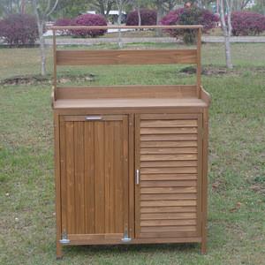 Outdoor Garden Work  Potting Bench Table Furniture Work Bench storage shed
