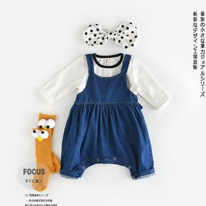 PHB60752 little kids 0 to 2 years baby jean pants infants denim
