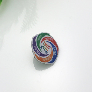 Promotional custom logo printing epoxy metal badge