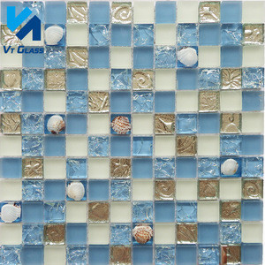 Top Grade Glass Mosaic For Swimming Pool Tile ,Crystal Mosaic Glass Tile