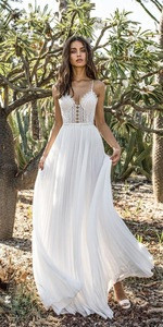 White Embroidery Lace Prom DressHalter Elegant Maxi Sexy Evening Ball Gowns Womens Wedding Dress