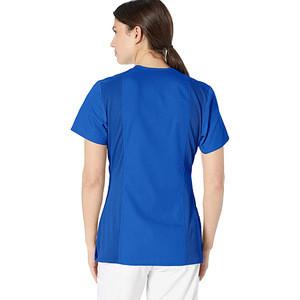 Wholesale women blue short sleeve v-nack salon beauty hospital doctor medical nurse uniform nurse uniform tops