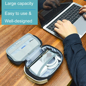 WIWU Electronic Accessories Storage Bag Digital Gadget Devices Cable USB Flash Organizer Travel Carry Case Cosmetic Bag