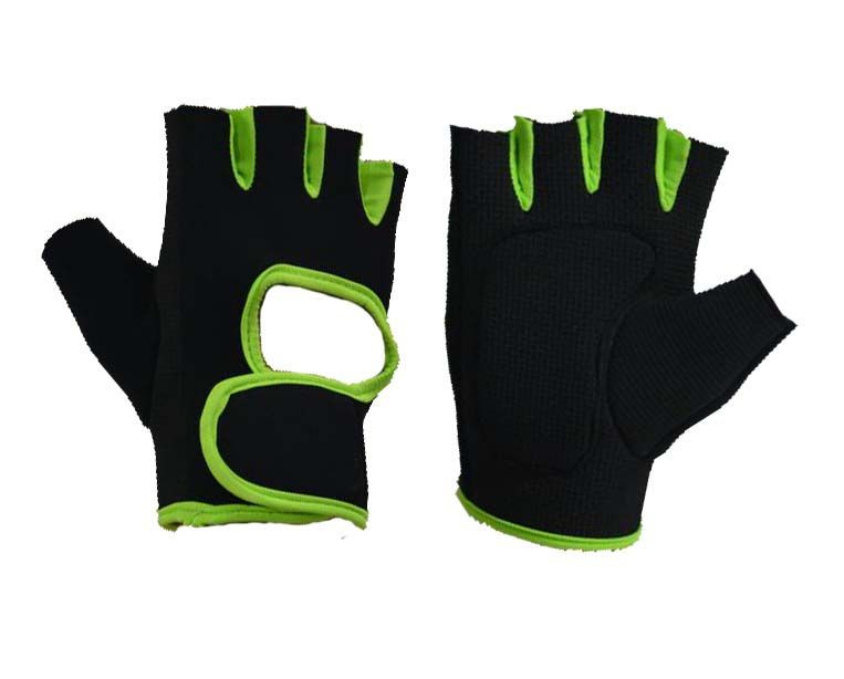 PVC Palm Sports Fingerless Gloves
