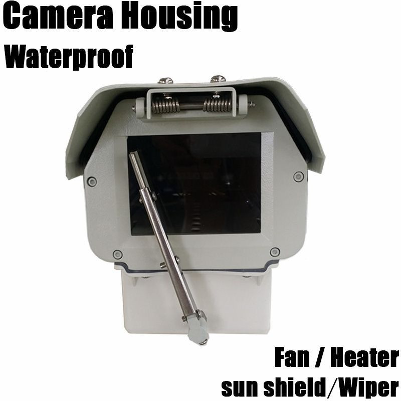 Large dimension aluminium alloy IP66 outdoor waterproof explosion-proof surveillance security cctv camera housing with wiper