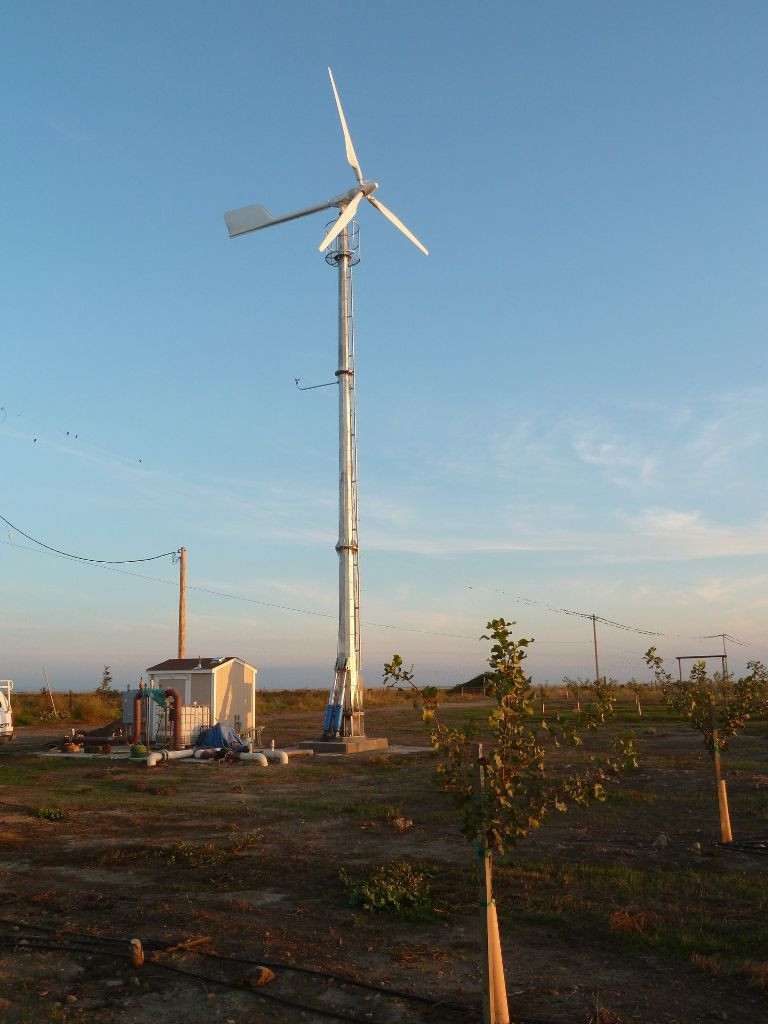 Home or farm use wind generator on grid system