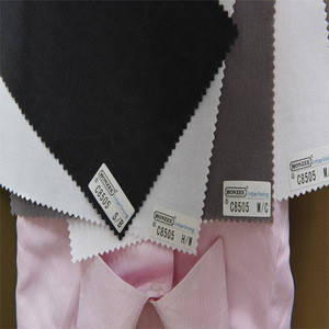100 cotton woven fusible interlining fabric shirt's shirt collar woven interlining