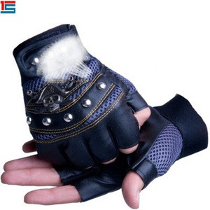 2018 new cheap high quality leather motor half glove