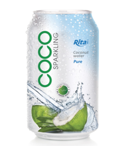 330ml can Sparkling coconut water Drink Coconut water from Vietnam Private label