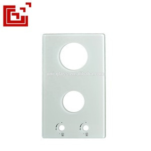 Beige color printed cooktop tempered glass
