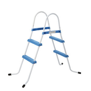 Coated Steel Frame 2 Steps Ladder Plastic Step Swimming Pool Ladder HT-W008