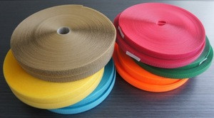 Colored free sample hook and loop tape