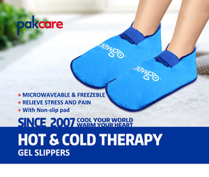 Customize therapy  pain relief Relief aches pains swelling knitted composite comfort gel slippers moist heat slippers