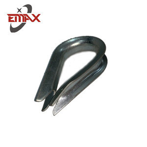 Customized Hot Dip Galvanized Wire Rope Thimble US Type Standard Heavy Duty Capel