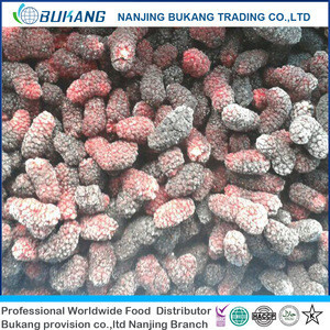 Delicious bulk IQF frozen mulberry fruit with best price