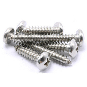 DIN 7981 Pan Head Pozi Drive Type AB Thread Stainless Steel 304 316 Self Tapping head Screw