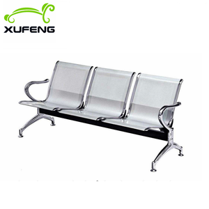 Durable stainless steel 3 seat  hospital waiting chair