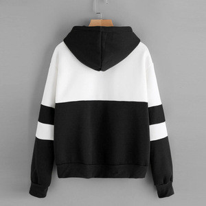 Embroidery Sweatshirt 2018 Autumn Winter male Long Sleeve Hoodies men Crop Top Striped Boys Casual
