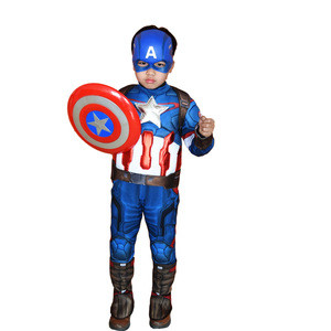 Halloween style cosplay costume Superhero costume US team clothing children boy kids jumpsuit movie anime cosplay costume