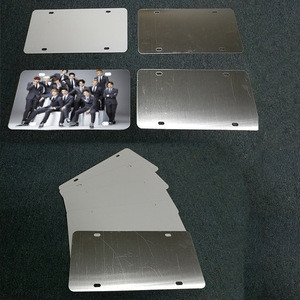 Hot  In  USA ,Sublimation Blank  aluminum Car License number plate  For  Heat  Press Machine Sublimation paper printing