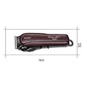 Hot Sale Professional Red Cordless Kemei 2600 Intertek EU Plug Rechargeable Salon Electric Shaving KM Hair Trimmer