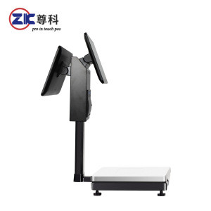 Hot selling ZK- W9C A new generation of all in one capacitive touch screen cash register scale with auto-cutter printer