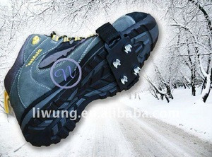 Ice cleats for snow shoes