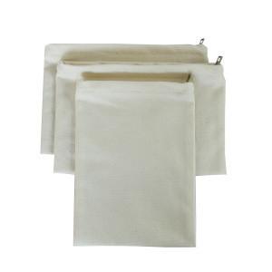 In stock canvas document bag zipper file holder