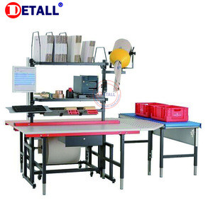 Industrial warehouse packing workbench working station line packing tables