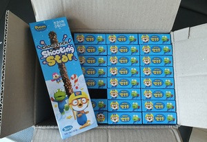 Korean Anime Character Pororo Choco Stick Snack For Children Popping in Mouth Shooting Star