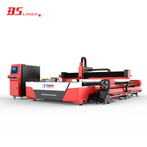 Metal round square pipe tube fiber laser cutting machine for machinery construction and other industries