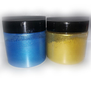 Mica pearl powder pigments package in jars and pots for slime cosmetic