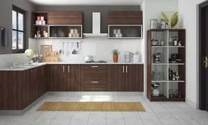 Modern Kichen Cabinet Made in China,Wood Color Kitchen Cabinet