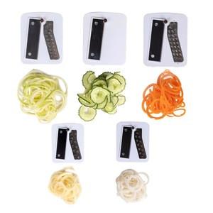 Muti function plastic 3-blade spiralizer fruit salad slicer for vegetables