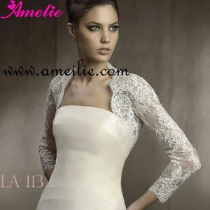 New arrival long sleeve bridal bolero jacket