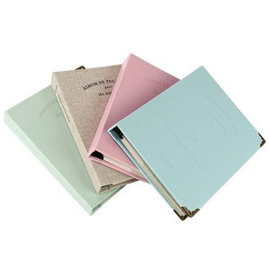 New Design  Photo Album  with 120 Pockets  for Children Pu Leather Cover